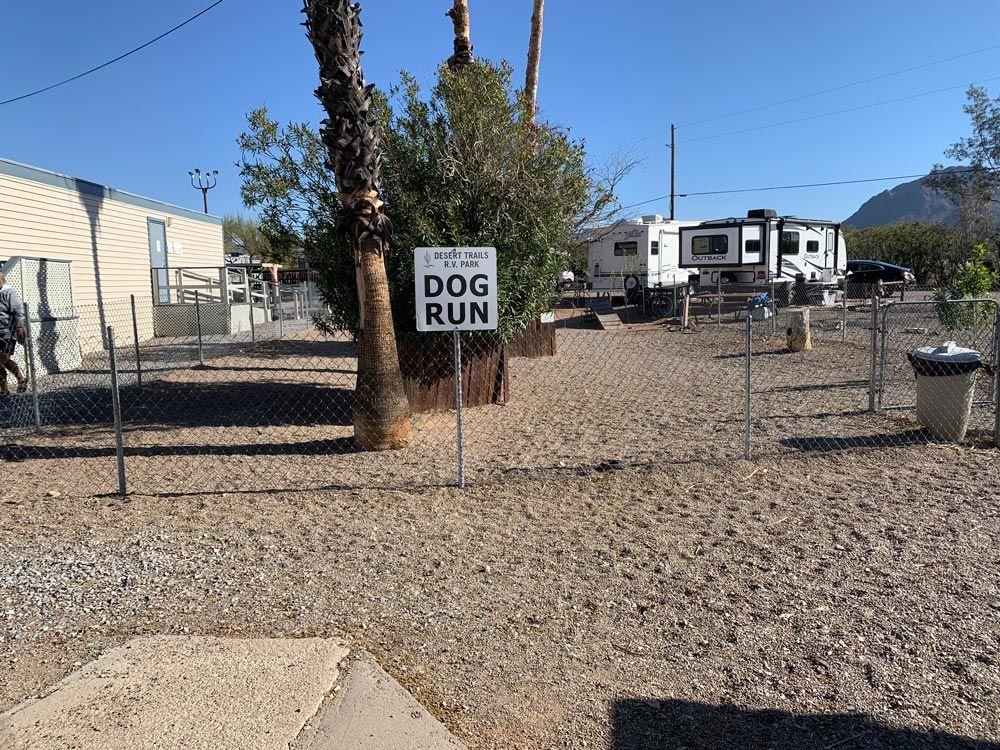 Tucson RV Park with Dog Run